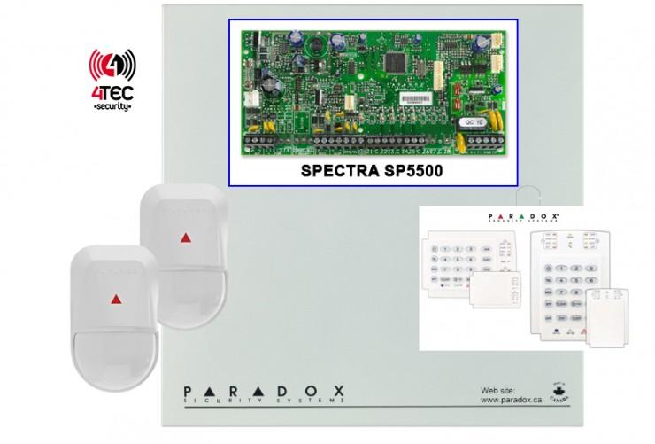 Σύστημα συναγερμού σπιτιού Paradox SP 5500 με πληκτρολόγιο LED & 2 Radar Paradox NV500