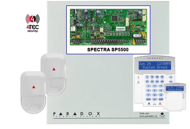 Σύστημα συναγερμού σπιτιού, τιμές σε Paradox SP 5500 με 2 Radar Paradox NV 500 και LCD πληκτρολόγιο