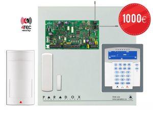 Ασύρματο Σύστημα συναγερμού σπιτιού Paradox MG 5050 με πληκτρολόγιο ICON & 2 Ασύρματα Radar Paradox PMD-2Ρ & 7 Ασύρματες μαγνητικές επαφές