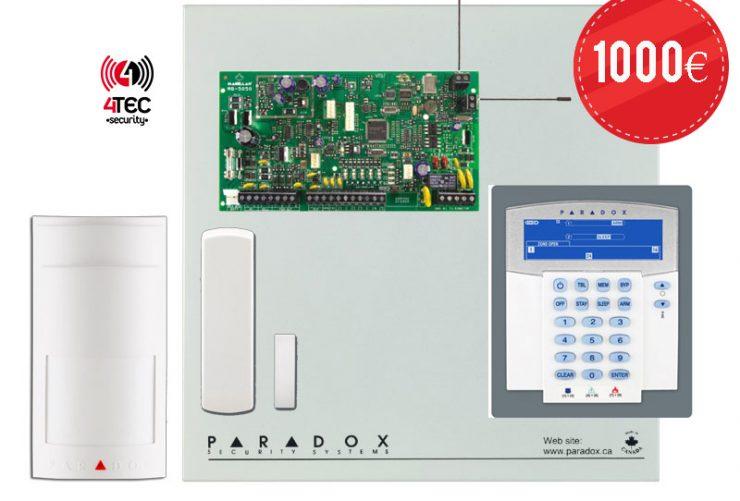 Ασύρματο Σύστημα συναγερμού σπιτιού Paradox MG 5050 με πληκτρολόγιο K35 ICON & 2 Ασύρματα Radar Paradox PMD-2Ρ & 7 Ασύρματες μαγνητικές επαφές