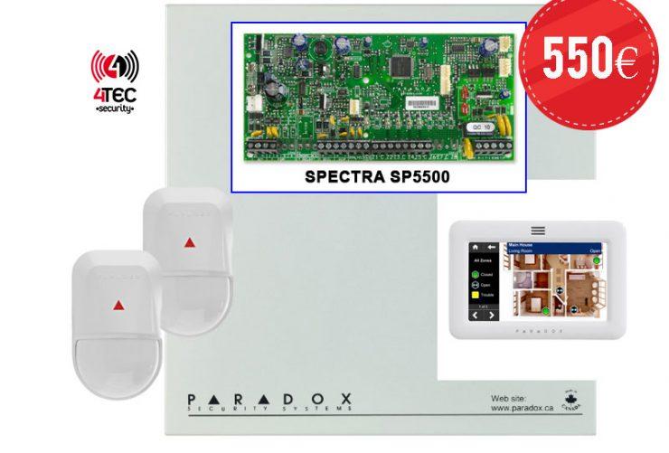 Συναγερμός Paradox SP5500 με 10 παγίδες, Πληκτρολόγιο TM 50 & 2 Radar