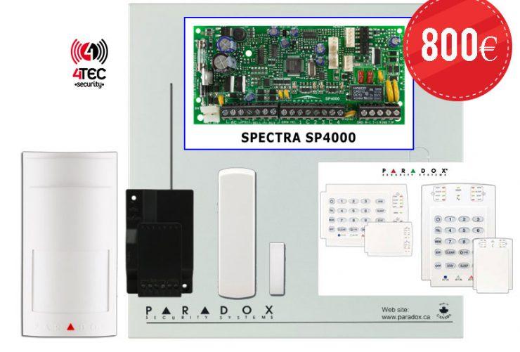 Ασύρματo σύστημα συναγερμού σπιτιού Paradox SP 4000 με πληκτρολόγιο K10V &  Ασύρματo Radar Paradox PMD-2Ρ & 6 Ασύρματες μαγνητικές επαφές