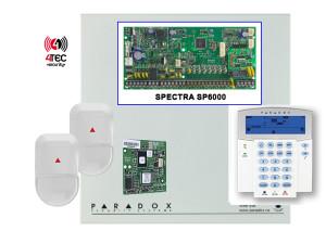 Συναγερμός Paradox SP6000 με Τηλεφωνητή, πληκτρολόγιο Paradox ICON Lcd, 15 παγίδες & 2 Radar paradox NV 500
