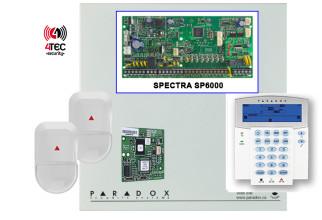 Συναγερμός Paradox SP6000 με Τηλεφωνητή,πληκτρολόγιο Paradox ICON Lcd, 15 παγίδες & 2 radar