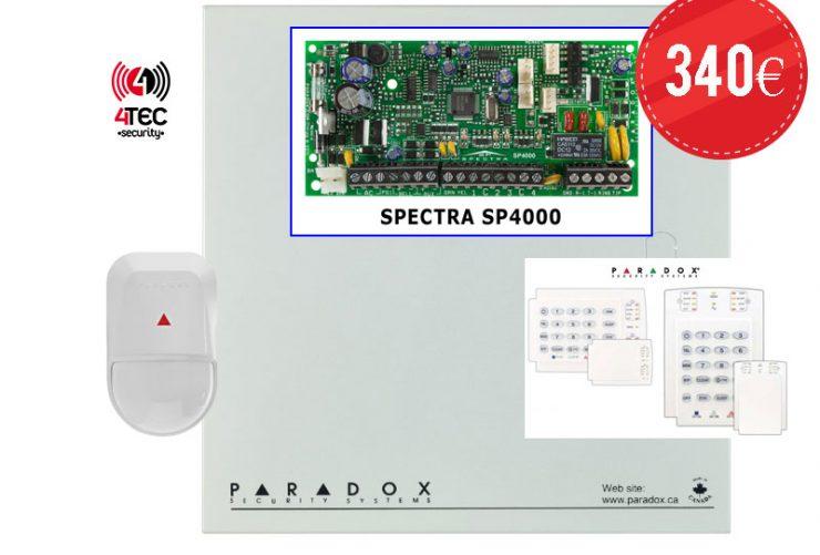 Προσφορά συναγερμός σπιτιού Paradox SP4000, πληκτρολόγιο K10V/H, 1 Radar